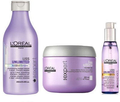 L,Oreal Paris PROFESSIONNEL LISS SHAMPOO AND CONDITIONER AND SERUM