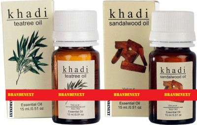 khadi Natural Essential Oil Combo - 4 (Tea Tree & Sandal)