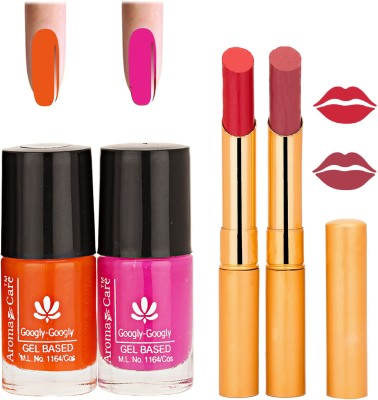 Aroma Care Nail Polish Red Lipstick Combo 042