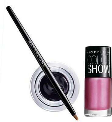 Maybelline Lasting Drama Gel Eye Liner and Color Show Combo 1