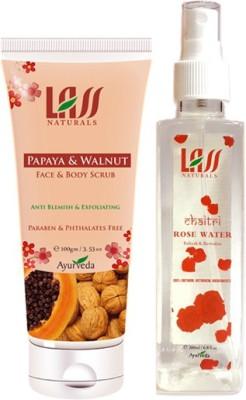 Lass Naturals Papaya & Walnut Scrub With Rose Water