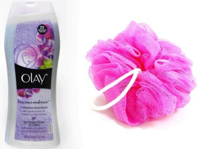 Olay Lusicous Emprace Cleansing Body Wash 700 mL With Loofah