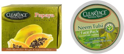 Clear Face Papaya Facial Kit & Neem Tulsi