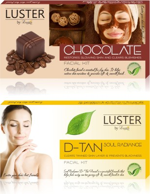 Luster Chocolate & Soul Radiance D-Tan Facial Kit (New Pack)