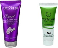 Oxyglow Golden Glow Pearl Whitening Face Wash & Essence Of Clove Anti Pimple Face Pack 35gm(Set of 2) best price on Flipkart @ Rs. 315