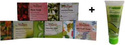 Mxofere Combo Rose Jasmine Almond Honey Aloevera Mixfruit Soap Kit