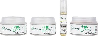 Glowing Buzz GB_44331166 - Combo of Sandal Mitti, Pack, Vit. E , Aloe gel