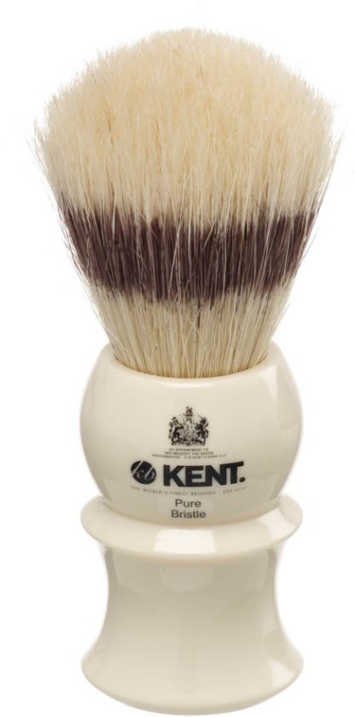 Kent White Socket Pure Bristle Badger Effect Shaving Brush