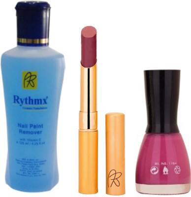 RythmX RythmX Mauve Lipstick +Nail Polish Combo 2206201622