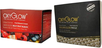 Oxyglow Golden Glowmutli Fruit Bleach & Golden Glow Radiance Pearl Facial Kit