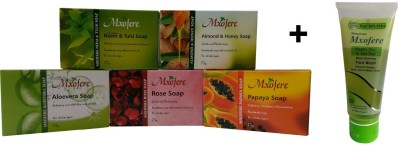 Mxofere Combo Neem Tulsi Almond Honey Aloevera Rose Papaya Soap Kit