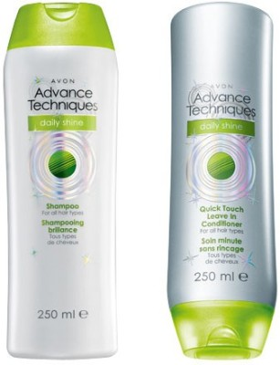 Avon Advance Techniques Daily Shine Shampoo And Conditioner Combo Pack (200ml Each)