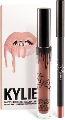 Kylie Jenner Lip kit - Candy K - Warm Pinky Nude(Set of)