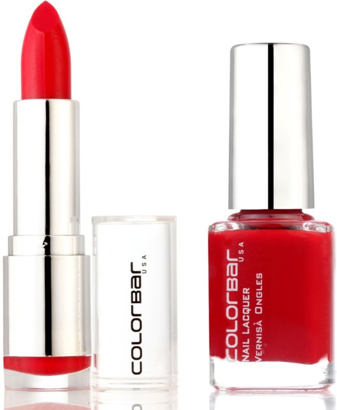 Colorbar Lipstick & Nail Polish(Set of 2)