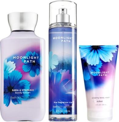 Bath & Body Works Moonlight Path (Cream Wash , Fragrance Mist , Body Lotion)
