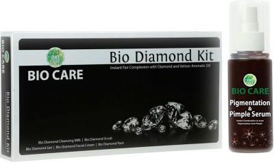 Biocare Diamond Facial Kit 250gm, Pigmentation & Pimple Serum 100ml