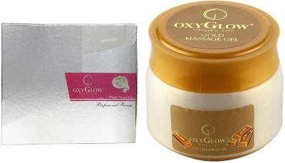 Oxyglow Pearl Facial Kit & Gold Massage Gel Eco Pack