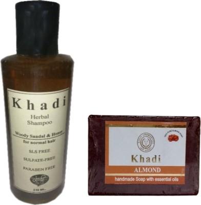 khadikhazana sandal honey shampoo & almond soap