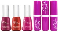 Avon Color Bliss Lipstick (set of 3 of 4 g each) + Merry & Bright Nail Enamel (set of 3 of 5 ml each)