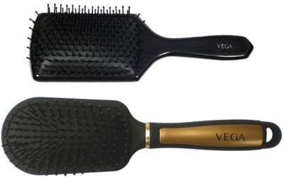 Vega Premium Paddle Hair Brush 8586 With Premium Collection Cushioned Brush E14-Cb