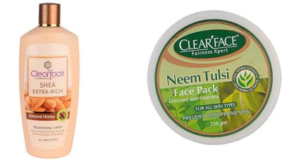Clear Face Shea Extra Rich Almond Honey & Neem Tulsi