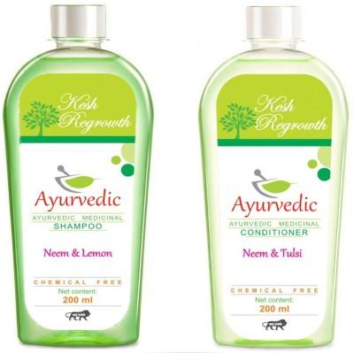 Kesh Regrowth Neem Lemon Shampoo & Neem Tulsi Conditioner
