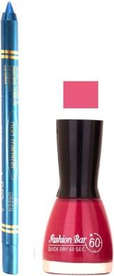 Fashion Bar Voilet Purple Nail Polish With Pro Non Transfer Turquoise Blue Kajal 84
