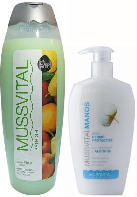 Mussvital Fruits Shower Gel & Cotton Han...
