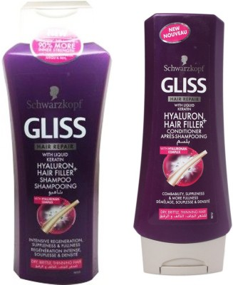 Schwarzkopf Hyaluron Hair filler shampoo and conditioner
