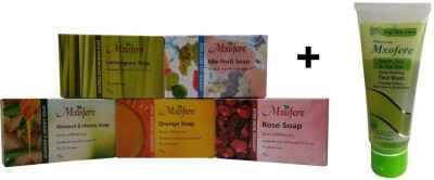 Mxofere Combo Lemongrass Mixfruit Almond Honey Orange Rose Soap Kit