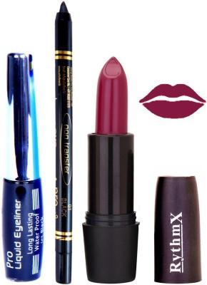 Rythmx Mauve Lipstick Eyeliner Kajal Combo Kit 780110