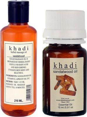 Khadi Natural Sandalwood (Massage Oil & Essential Oil)(Set of 2)