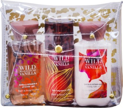 Bath & Body Works Wild Madagascar Vanilla Trio set