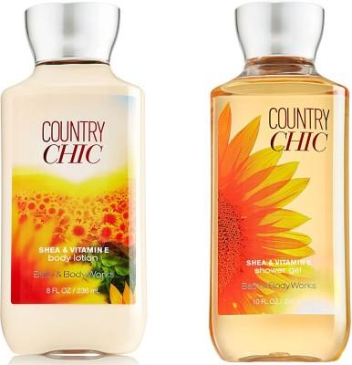 Bath & Body Works Country Chic Shea & Vitamin E Body Lotion 236ml & Shower Gel 295ml