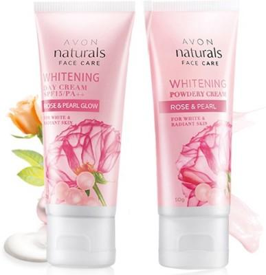 Avon Rose & Pearl Day SPF15/PA++ (50g) & Powdery Night (50g) Cream Combo Pack