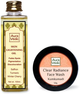 Auravedic Skin Lightening Oil & Kumkumadi Face Wash