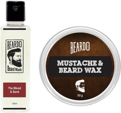 Beardo The Blood & Sand Beard Wash (100ml) & Wax (50g) Combo