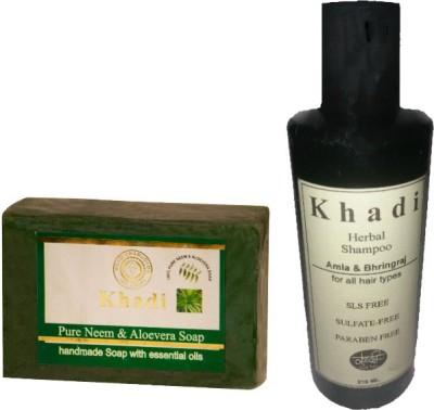 khadikhazana AMLA BHRIGRAJ SHAMPOO & ALOEVERA NEEM SOAP