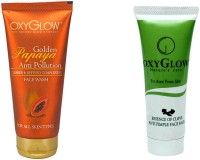 Oxyglow Golden Glow Papaya Anti Pollution Face Wash & Essence Of Clove Anti Pimple Face Pack 35gm(Set of 2) best price on Flipkart @ Rs. 315