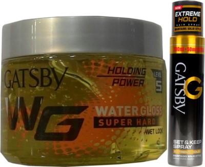 Gatsby Water Gloss Super Hard,Extreme Hold Spray