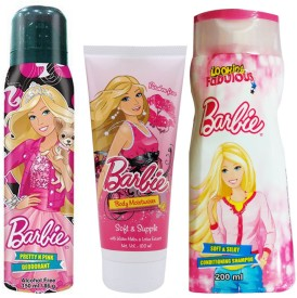 Barbie Personal care trendy bag gift pack(Set of 3)