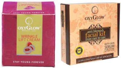 Oxyglow Wrinkle Lift Cream & Anti Blemish Facial Kit