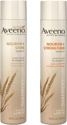 Aveeno Nourish + Shine Shampoo and Nourish + Strengthen Shampoo