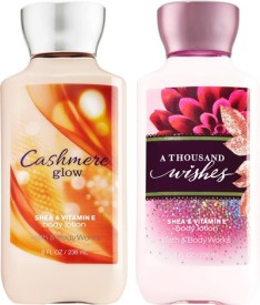 Bath & Body Works Cashmere Glow and A Thousand Wishes