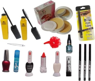 ADS Professional Makeup Combo (16 in 1)(Set of 16)