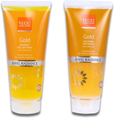 VLCC Gold Jewel Radiance Face Scrub & Gold Jewel Radiance Peel-Off Mask