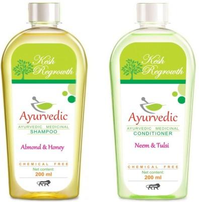 Kesh regrowth Almond Honey Shampoo & Neem Tulsi Conditioner
