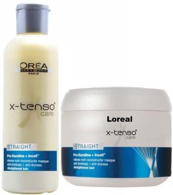 L,Oreal Paris X- tenso Care Straight Pro Keratin Shampoo and Mask