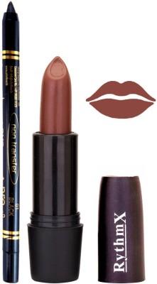Rythmx Choclate Brown Mauve Lipstick And Pro Non Transfer Black Kajal 38104