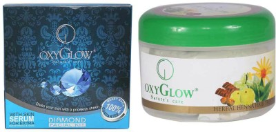 Oxyglow Diamond Facial Kit & Harbal Hair Heena Treatment